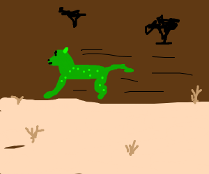 green lepoard