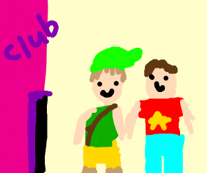 Link and a guy named Steven enter a club.