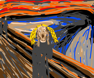 The scream but the person has braids