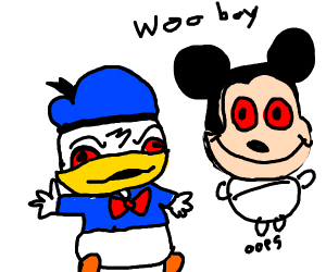 micky mouse and donald duck using drugs
