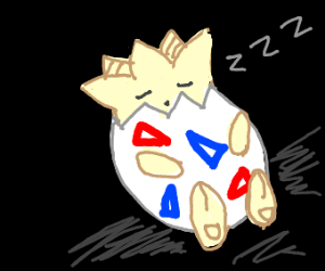Togepi sleeping