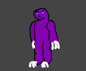 Muscly purple demon