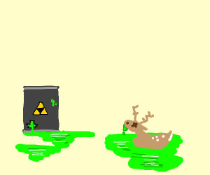 toxic waste melting deer
