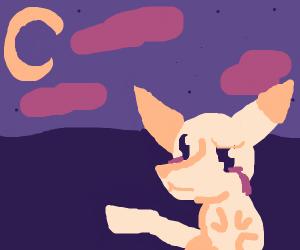 Sad pikachu at night