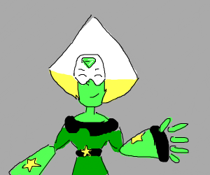 peridot from SU, but she's aesthetic