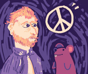 Mouse and Van Gogh promote peace