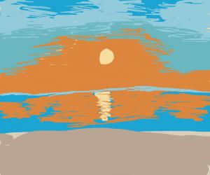 Sunrise, on the beach.