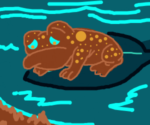 Sad Brown Frog