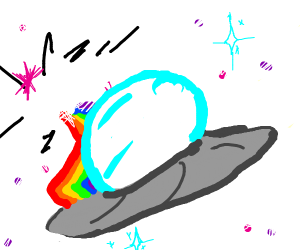 Colorful Flying Saucer Nyoooms