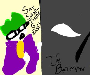 Batman announcing he's Batman