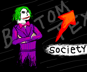 Stonks but hes the joker and society is risin
