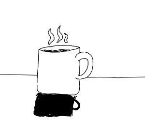 Steam rises from fresh cup of tea