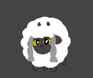 wooloo with a really scary face