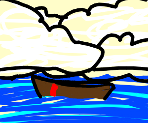 boat floating on water