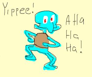 Happy Squidward dancing