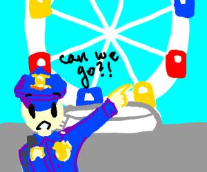 Police wanna ride on dat ferris wheel