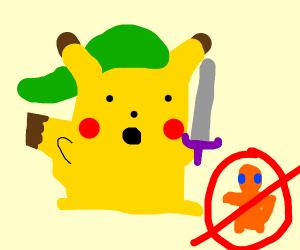 link pikachu isn't a charmander