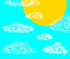 sun in the cloudy sky
