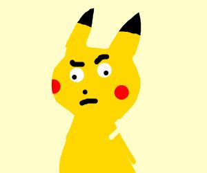 Skeptical Pikachu
