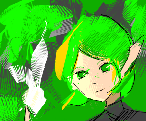 Saria (from ZeldaOcarinaOfTime) touches light