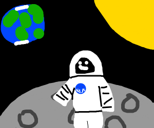 astronat on the moon