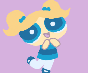 Bubbles, the powerpuff girl!