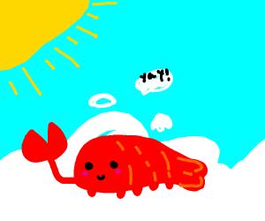 Scorpion enjoying the afterlife
