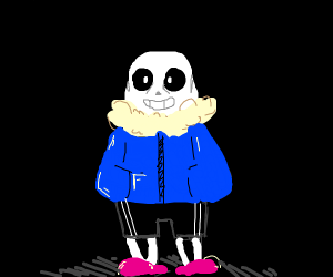 Sans in a dark room