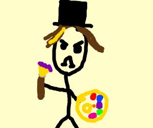 Artist wearing a Top Hat