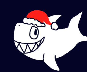 Santa has been replaced by a shark