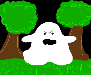 ghost in a forest