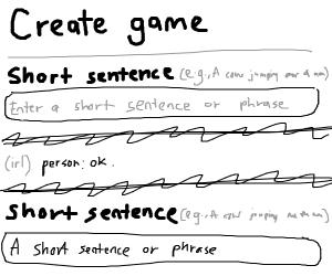 A short sentence or phrase
