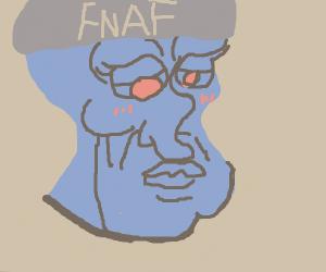 The fnaf night guard became Handsome Squidwar