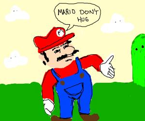 Bunny hugs Mario