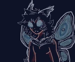 moth man is an anime boy now