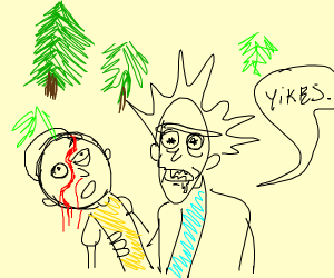 morty dies in a forest