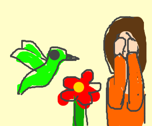 Lady Does Not Want To See Nice Hummingbird