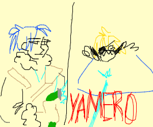 "Anime guy screaming ""Yamero"""