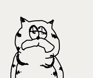 Garfield is sad