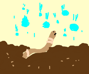 Earthworm in a Hailstorm