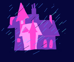 House during a storm