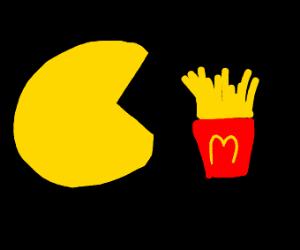 pacman is eating fries