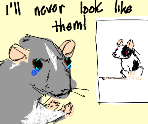sad rat learns itll never be a mouse