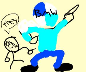 B&W man