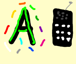 A letter and a cell phone