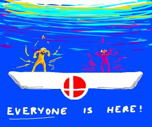 Yellmo and Purpmo in Smash Bros