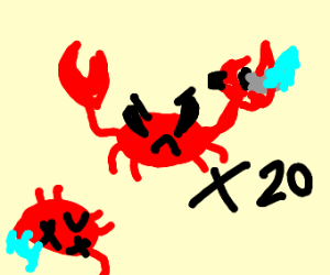 crabs at battle