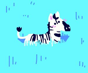 zebra in tall grass