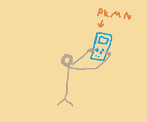 Person with Gameboy
