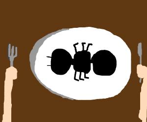 man eats ants?